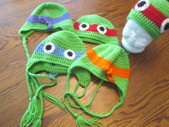 Ninja Turtle Beanie Mütze Häkeln Etsy