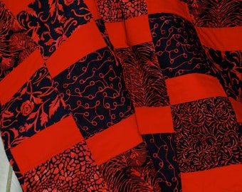 Red and Black Handmade Quilt