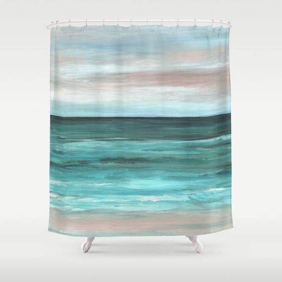 Shower Curtains Sea Curtain Beach