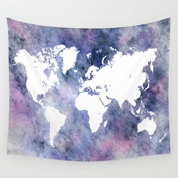 Wall tapestry wall hanging sofa throw world map tapestry etsy gumiabroncs Images