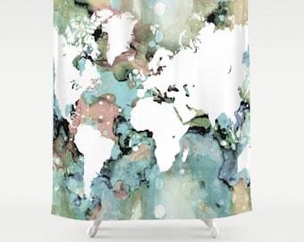 shower curtains world map shower curtain bath mat bathroom design 96 world