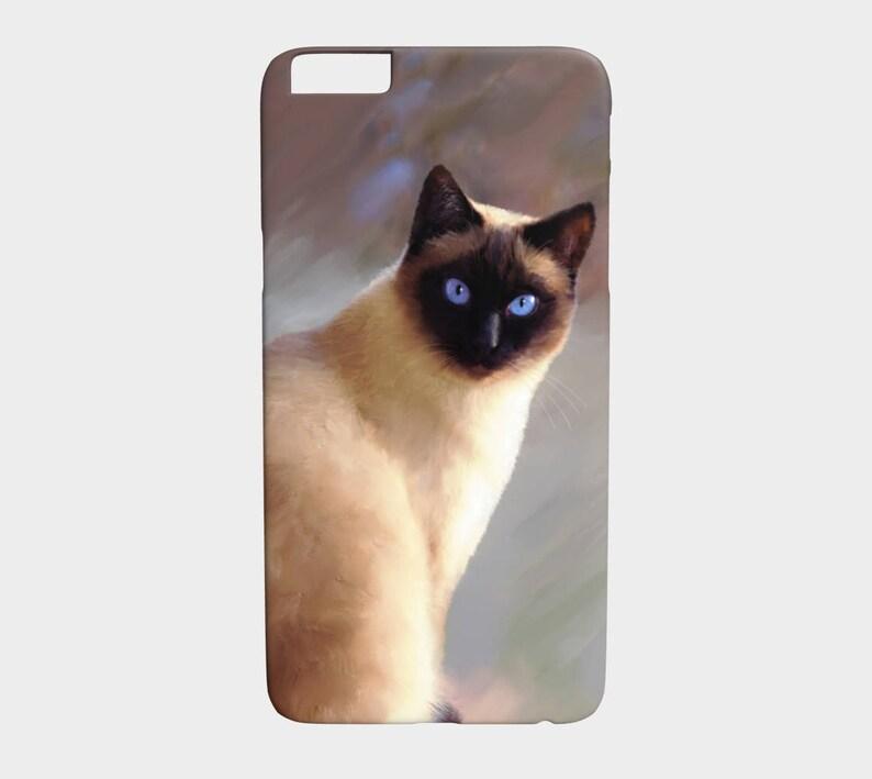 hot sale online b2597 0c62c Phone Case, Siamese Cat phone Case, Cat 613 siamese Iphone Samsung Galaxy  art by L.Dumas