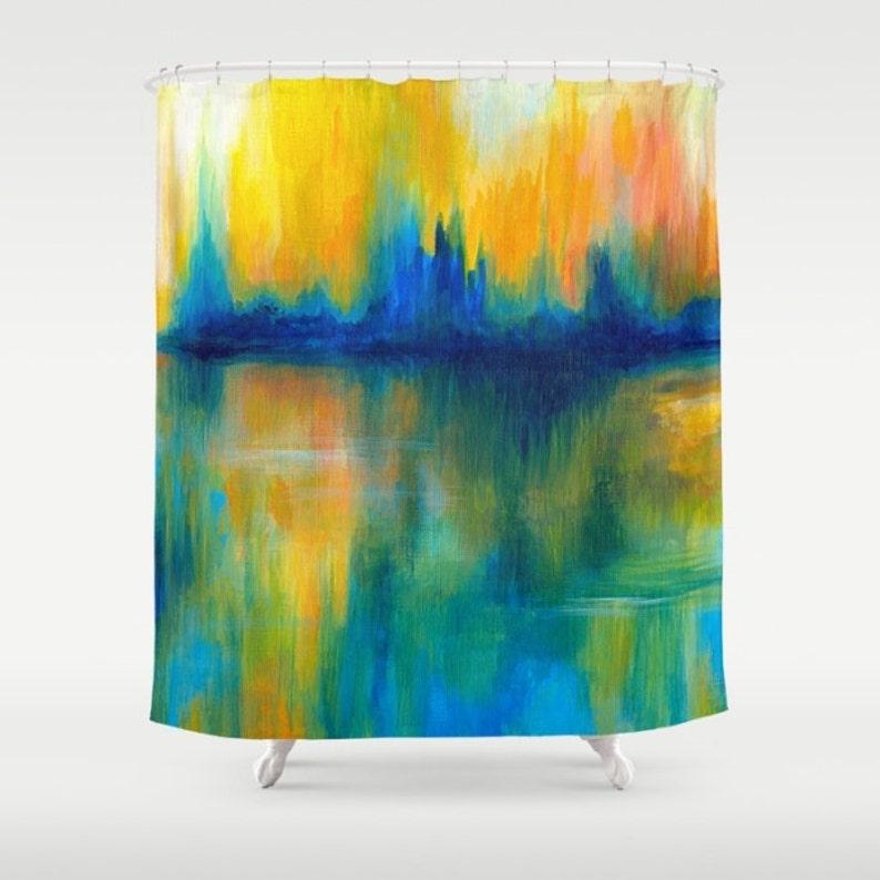 Shower Curtains Art Curtain Bathroom Abstract 14 Orange