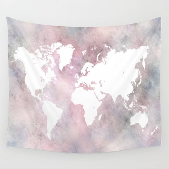 Wall tapestry world map tapestry wall hanging design 66 etsy image 0 gumiabroncs Images