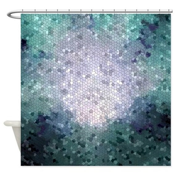Shower Curtains Mosaic Curtain Bathroom Bath Design