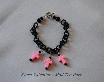 Pastel Goth Classic Cross Bracelet