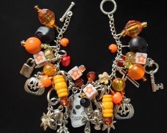 Halloween Bracelet with skulls
