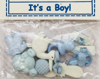 Favorite Findings It's a Boy Shank Buttons for Sewing Scrapbooking Craft Projects