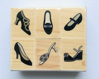 Fancy Shoes Set of 6 Stamps Hero Arts Brand