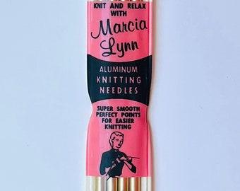 Vintage Marcia Lynn Aluminum Knitting Needles Size 8 Double Point 7 inch