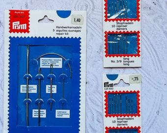 Prym West German Vintage Sewing Needles Lot of 3 Packages