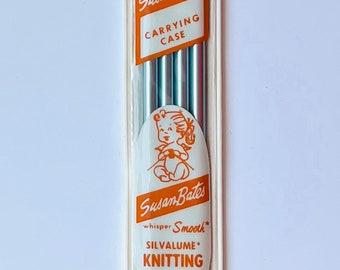 "Susan Bates Silvalume Knitting Needles 7"" Double Point Size 8 Set of 4"