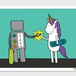 Robot and Unicorn Print