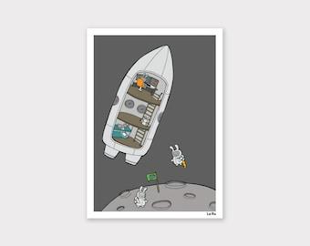 Shuttle Bunnies Print