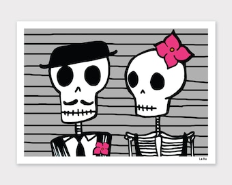 Skeleton Couple Print