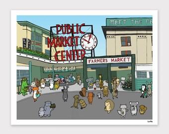Pike Place Market Print