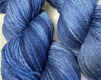 Indigo Hand Dyed 8ply DK Merino Wool  225 Metres 100 gms