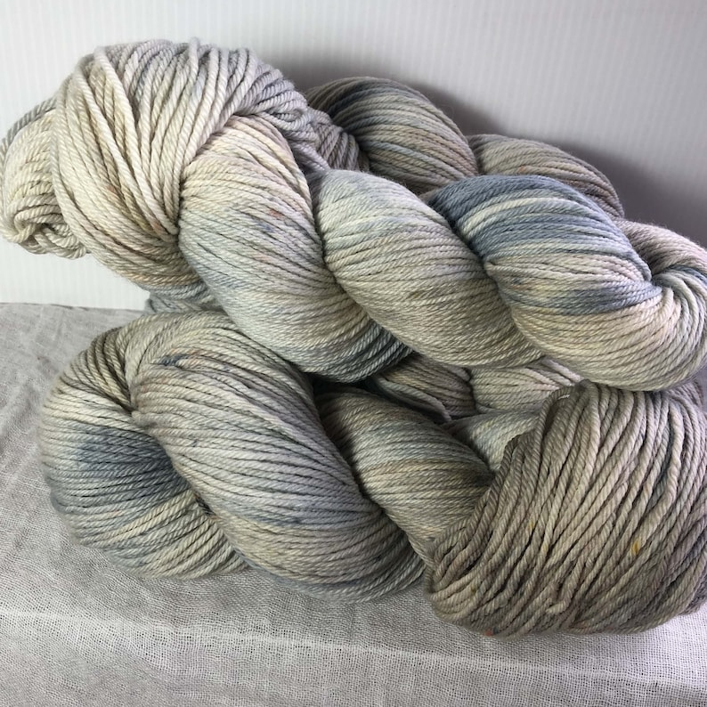 Grey and Sand Hand Dyed 8ply DK Merino Wool  225 Metres