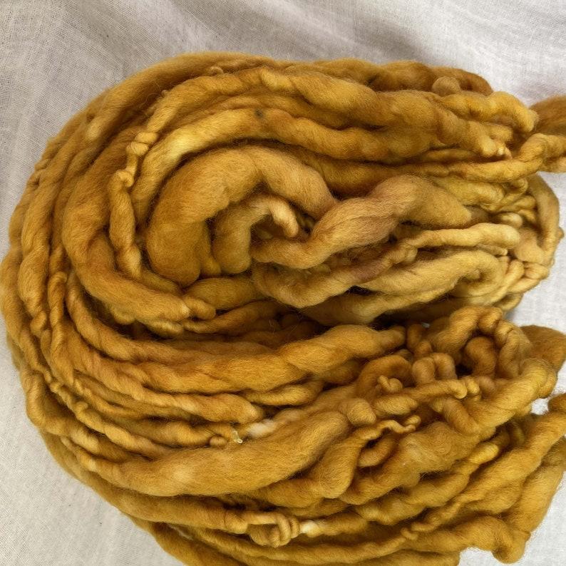 Mustard Hand Spun Hand Dyed Merino Chunky 50 Metres Feltable