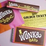 Golden Ticket invitation, Wonka Bar, FudgeMallow & Scrumdiddlyumptious candy wrappers Willy Wonka party DiY printable kit ReTRo oRaNGe PiNK