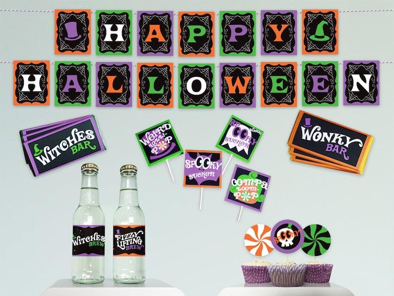 Halloween party kit Happy Halloween banner Halloween party image 0