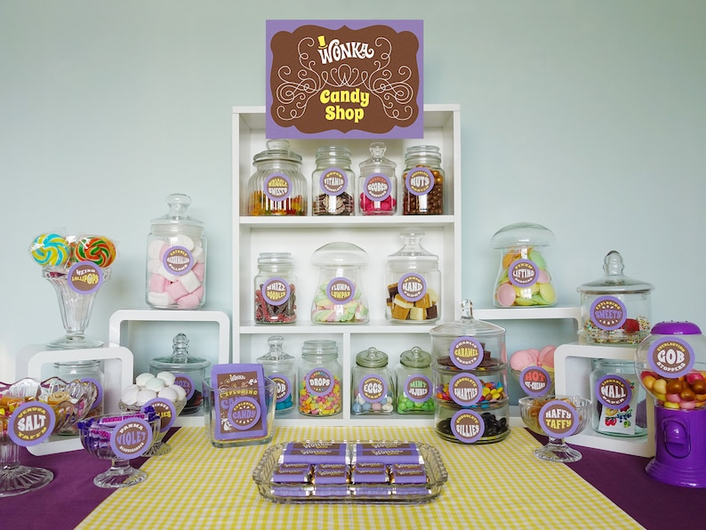 Wonka deluxe party kit Willy Wonka birthday party decorations image 0