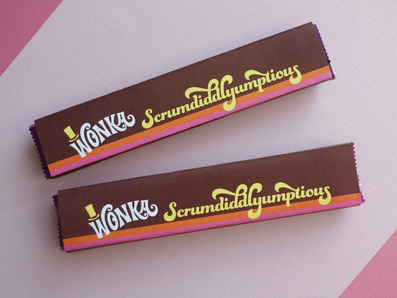 Willy Wonka Scrumdiddlyumptious Labels Wonka Candy Wrapper Etsy