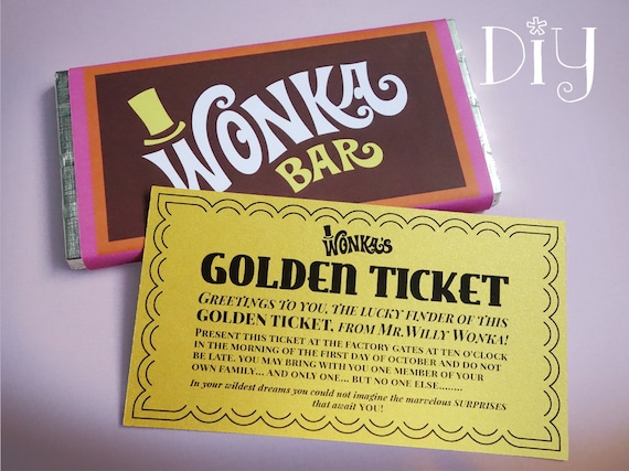 image relating to Golden Ticket Printable named Golden Ticket invitation Wonka Bar sweet wrappers Willy Wonka get together Do-it-yourself printable package ReTRo oRaNGe Red