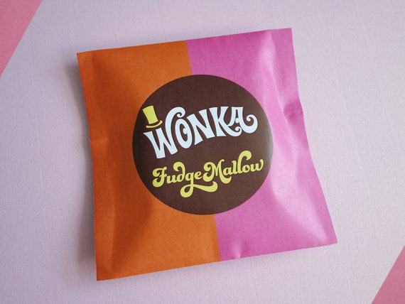 Willy Wonka Fudgemallow Labels Wonka Candy Wrapper Willy