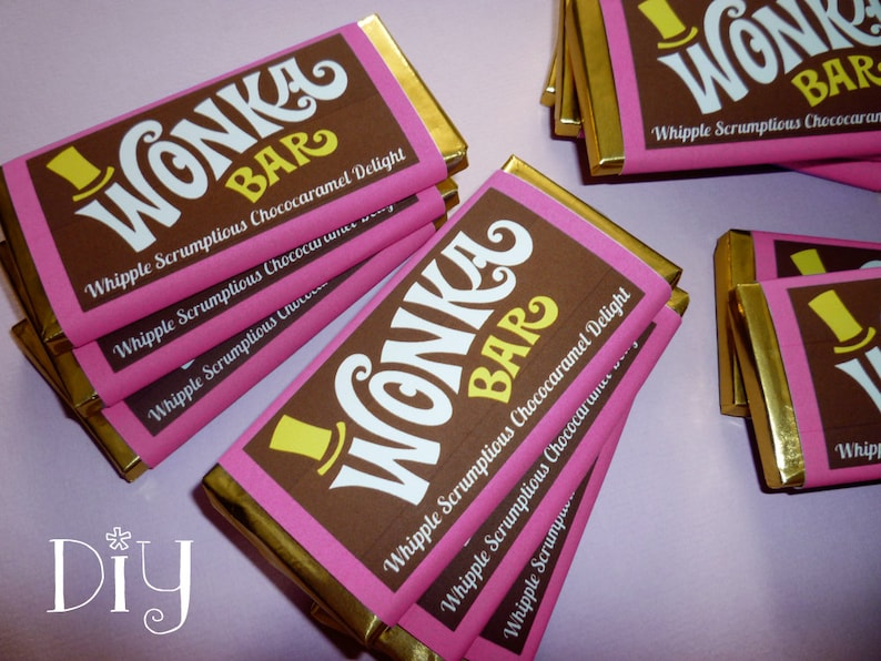 picture relating to Wonka Bar Printable identify Wonka Bar wrapper template Wonka Bar choose Willy Wonka birthday get together Chocolate Manufacturing facility social gathering printable sweet wrapper editable PDF record Red