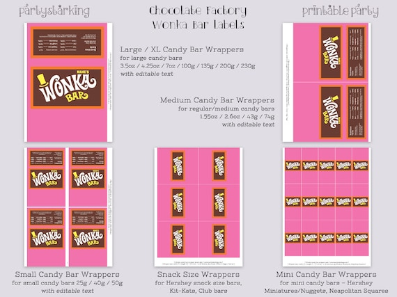 picture about Wonka Bar Printable known as Wonka Bar wrappers Custom made standing Wonka Bar sweet bar labels Willy Wonka celebration favors printable editable PDF template ReTRo oRaNGe Red