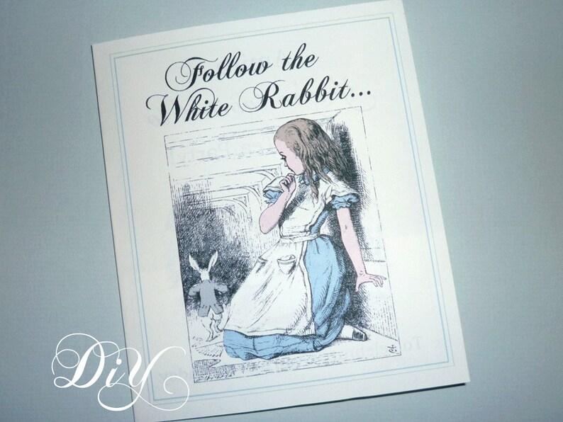 Alice in Wonderland invitation printable invite DiY image 0