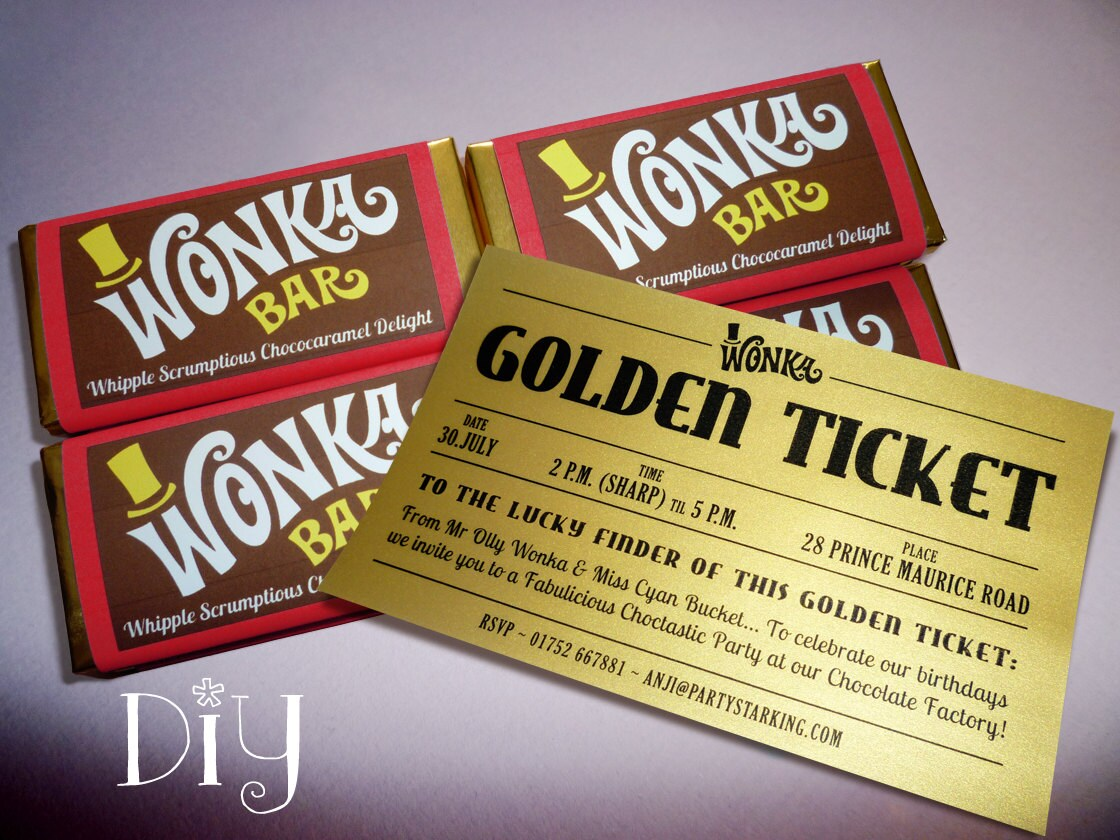 Invitación de barra de Wonka y billete de oro a los | Etsy