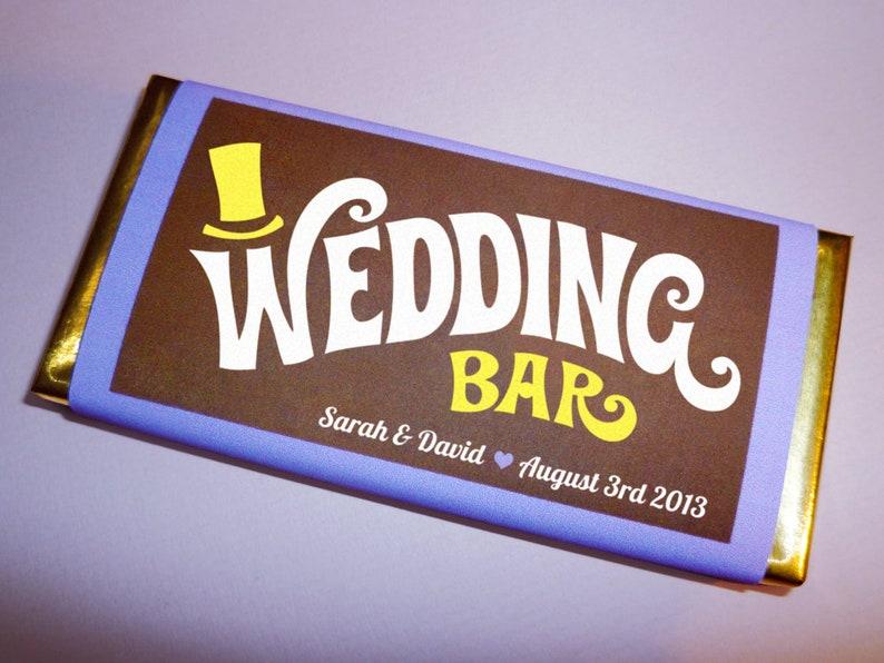 Wonka Bar wedding favor printable custom wedding invitation or image 0