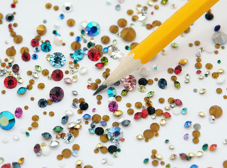 100 Swarovski Crystal chatons  1st quality machine cut art image 0
