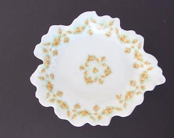 Antique Elite Limoges Leaf Dish