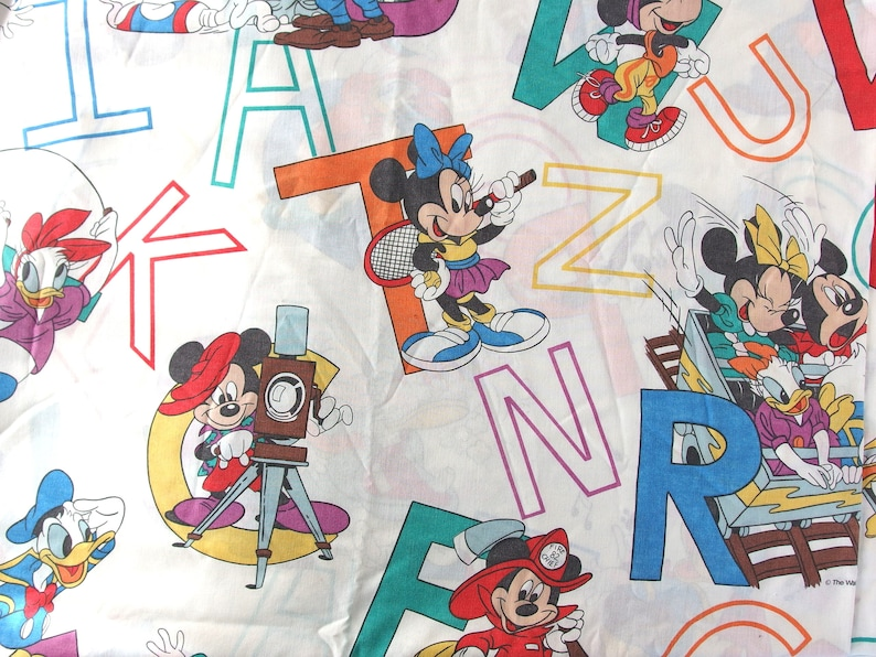 Mickey Mouse Twin Flat Sheet and 2 Pillowcases