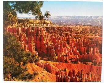 Vintage May 1982 Calendar Page, Bryce Canyon National Park, Utah