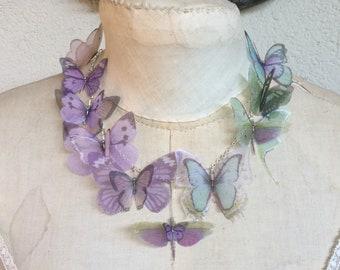"5 Pcs 4 Strands Silk Organza /& Cotton Cords Ready Necklace 18/"" Aqua"