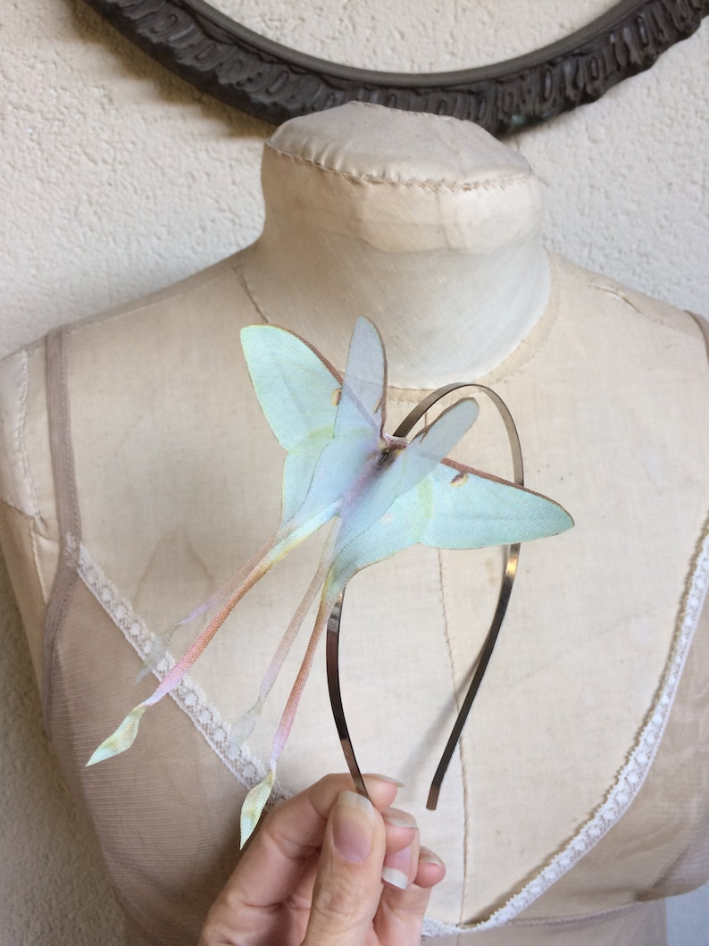 Butterfly Hair band Butterfly Headband Chinese Luna Moth image 0