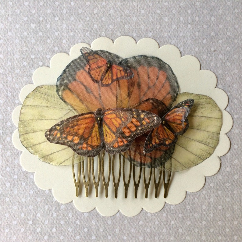 Butterfly Hair Comb Butterfly and Wings Hair Comb Butterfly image 0