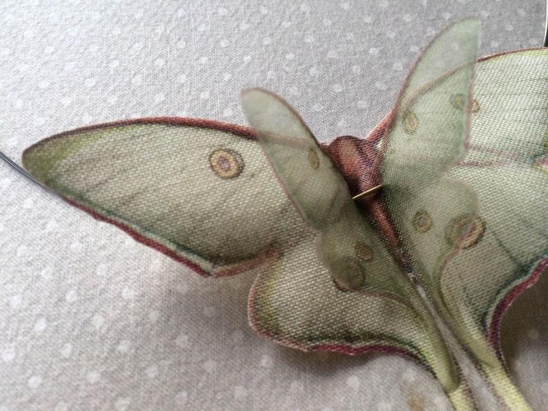Luna Moth Necklace Luna Moth Choker Butterfly Necklace image 0