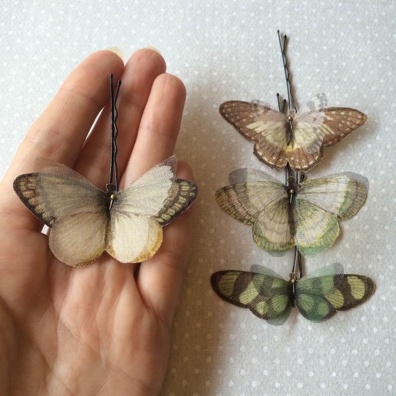 Butterfly Hair Pin Butterfly Hair Clip Butterfly Hairpin image 0