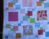 """Baby Quilt-Quilt for Child- Quilt for Girl-Birthday Quilt-Quilt for Girl Birthday-Handmade Quilt-Size 40"""" x 48"""""""
