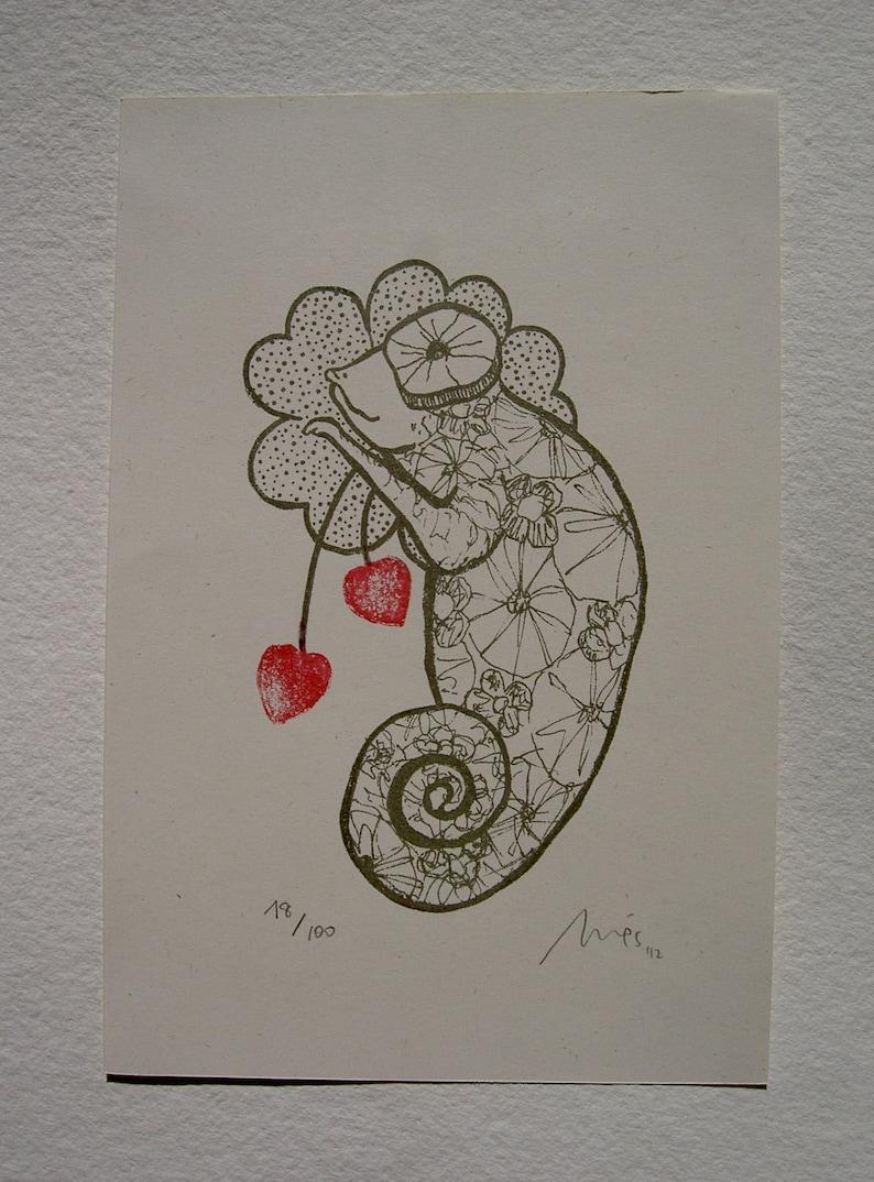 Camaleon enamorado/ Chameleon in love image 0