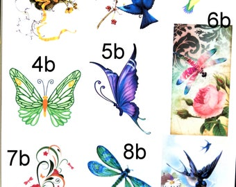 30 Custom Butterfly Art Personalized Address Labels