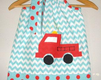 dress Fire truck dress chevron fire truck dress fire fighter  dress 3,6,9,12,18 month 2t,3t,4t,5t,6,7,8