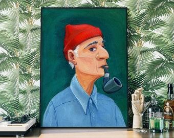 Jacques Cousteau portrait - various sizes