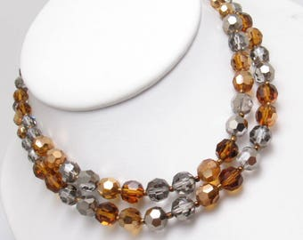 MARVELLA Vintage Creamy Pearlescent Bead Knotted Signed Necklace