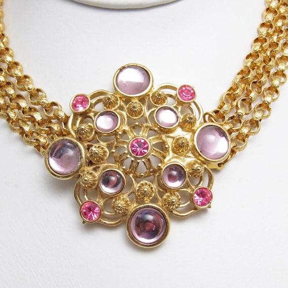 Rhinestone Pendant Necklace Jose Barrera Avon Vintage Jewelry